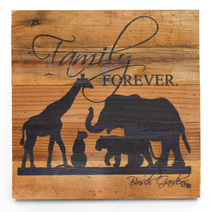"Busch Gardens Animal Group Wall Art - 10"" x 10"""