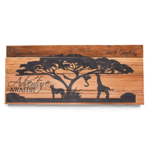 "Busch Gardens Tree Adventure Awaits Wall Art - 14"" x 6"""