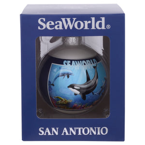 SeaWorld San Antonio City Collage Glass Ornament