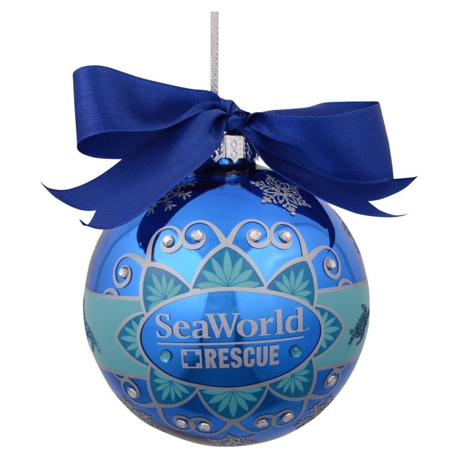 SeaWorld Sea Rescue Glass Ornament