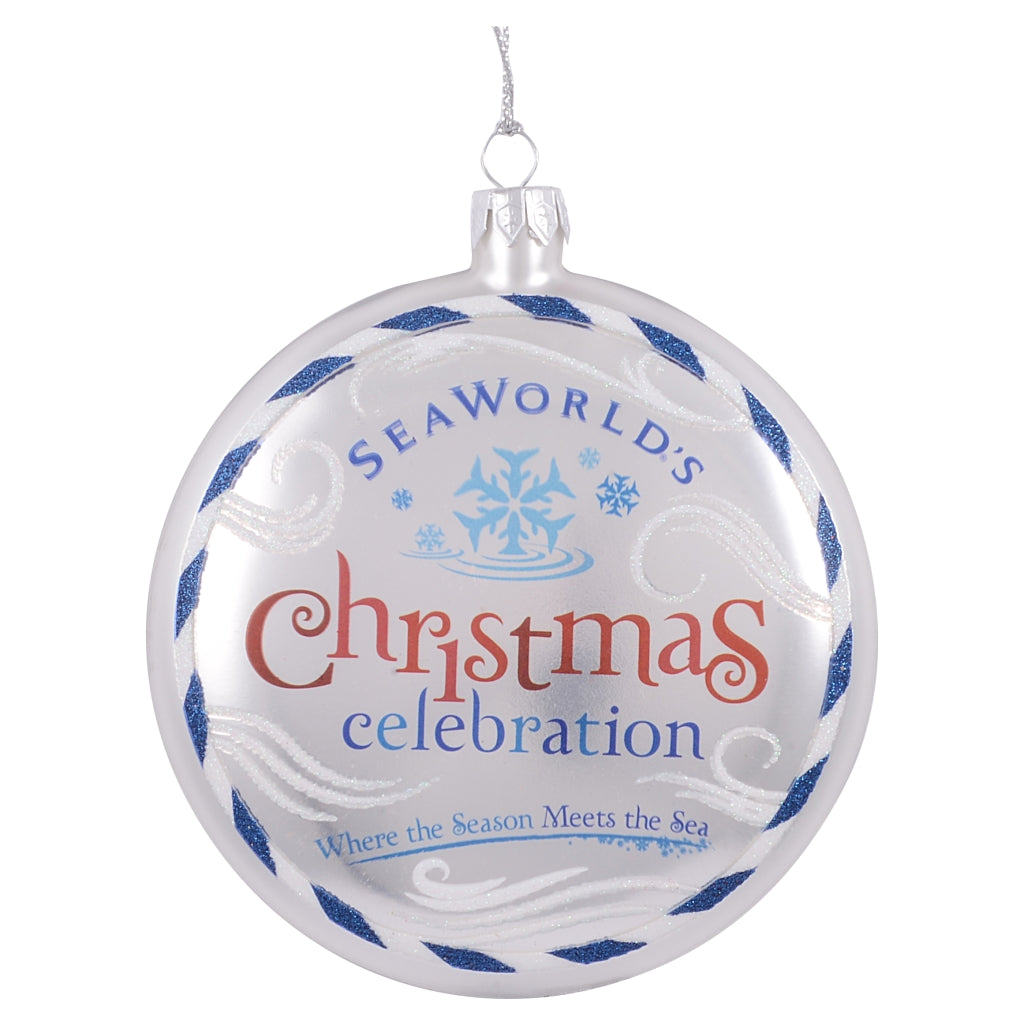 SeaWorld Christmas Celebration Glass Ornament