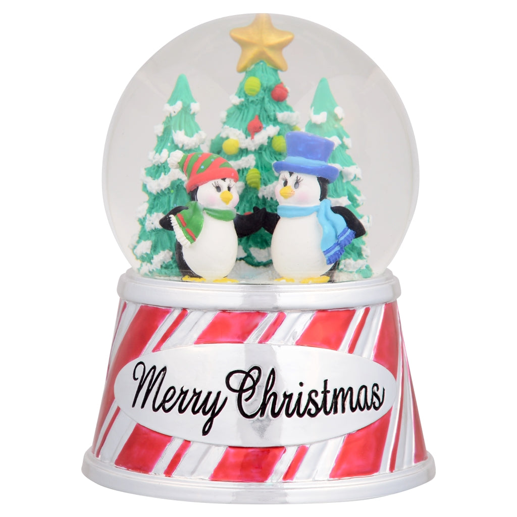 SeaWorld Merry Christmas Penguin Snow Globe