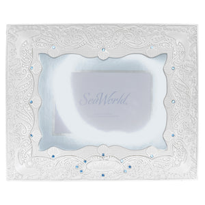 "SeaWorld White Lace Dolphin 6"" x 8"" Frame"