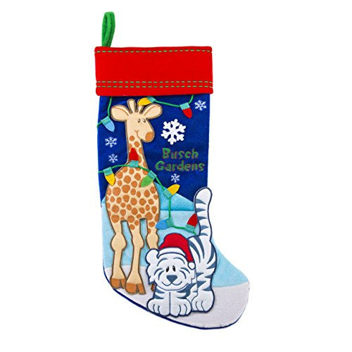 Busch Gardens White Tiger and Giraffe Stocking