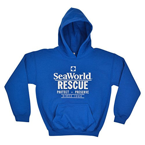 SeaWorld Rescue Youth Pull Over Hood - Royal