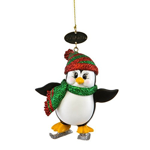 Penguin with Ice Skates Ornament