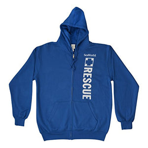 SeaWorld Rescue Adult Zip Hood - Royal