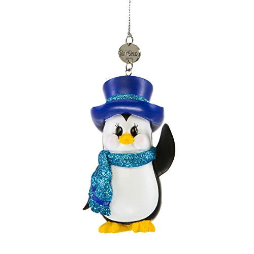 Penguin with Top Hat Ornament