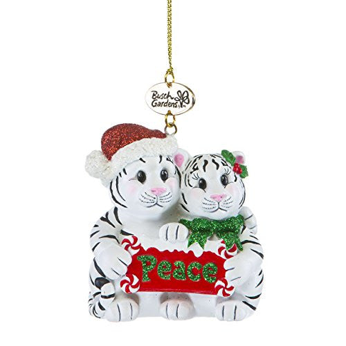White Tiger Mates Ornament