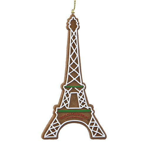 Eiffel Tower Gingerbread Resin Ornament