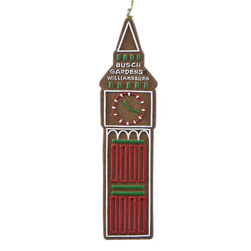 Big Ben Tower Gingerbread Resin Ornament