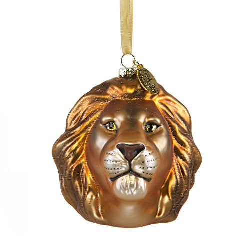 Lion Head Glass Ornament