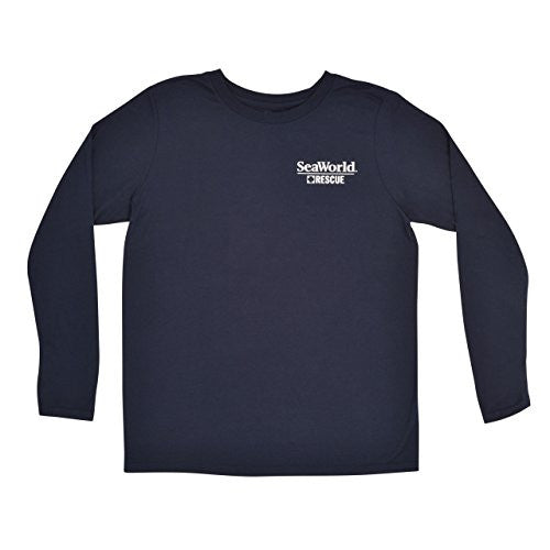 SeaWorld Rescue Navy Long Sleeve Adult Performance Tee
