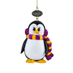 Penguin with Ear Muff Ornament