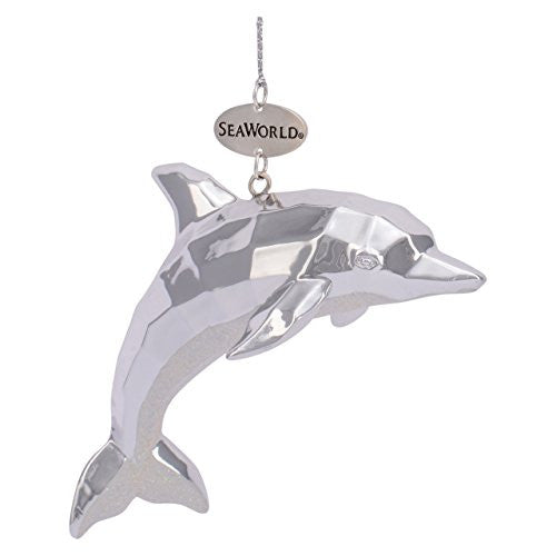 Dolphin Silver Resin Ornament