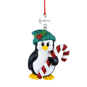 Penguin with Candy Cane Ornament
