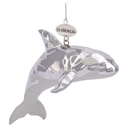 Orca Silver Resin Ornament