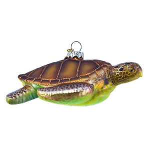 Turtle Glass Ornament