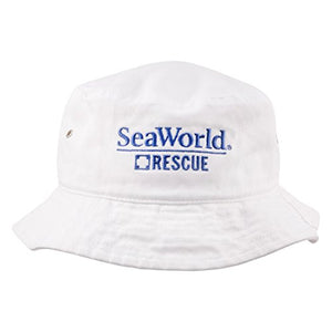 SeaWorld Rescue White Adult Bucket Hat