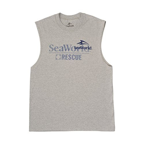 SeaWorld Rescue Grey Adult Muscle Tee