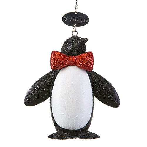 Penguin Glitter Bowtie Ornament