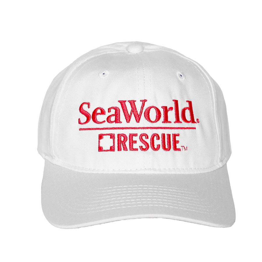 SeaWorld Rescue White Hat with Red Logo