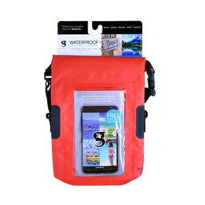SeaWorld Rescue Waterproof Phone Tote - Red