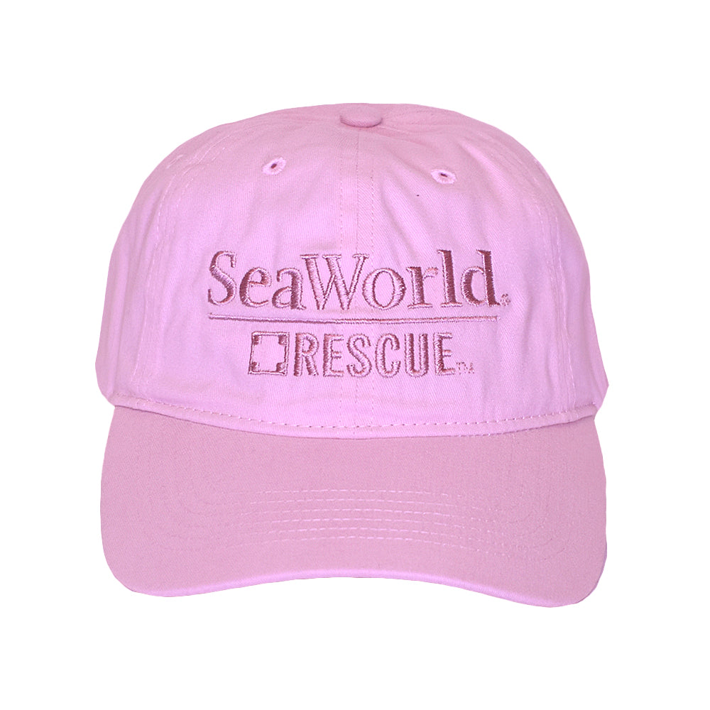SeaWorld Rescue Pink Hat with Pink Logo