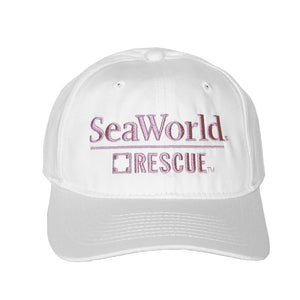 SeaWorld Rescue White Hat with Pink Logo