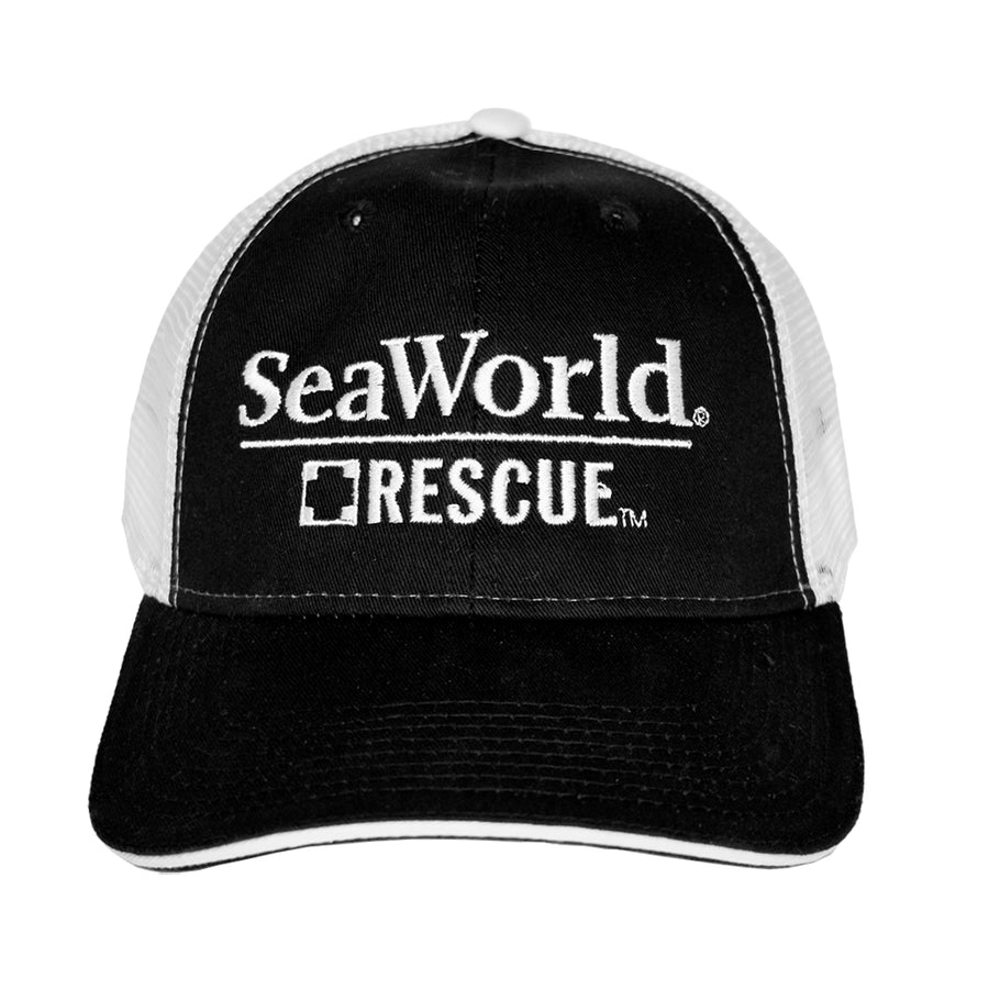 SeaWorld Rescue Black/White Mesh Hat