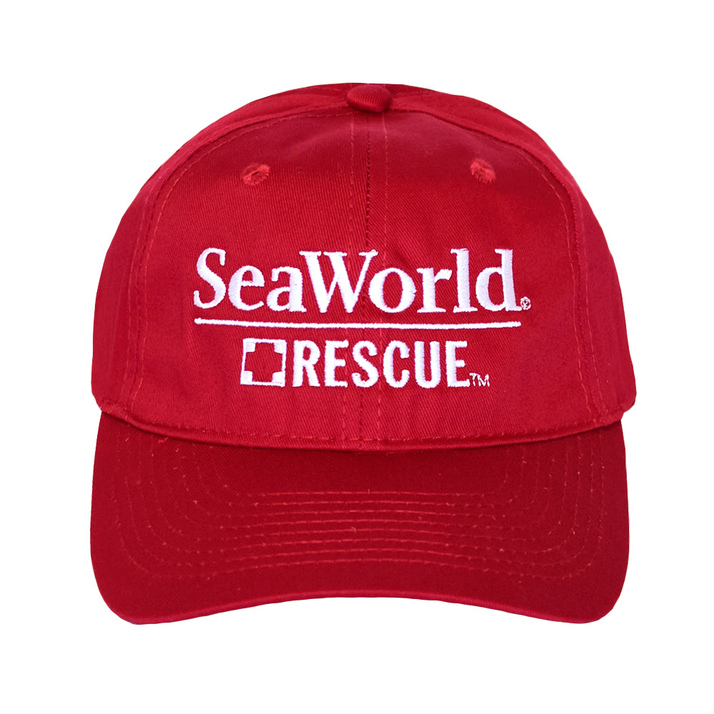 SeaWorld Rescue Red Hat with White Logo