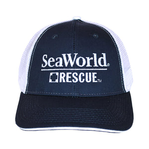SeaWorld Rescue Navy/White Mesh Hat