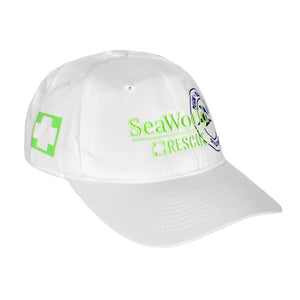 SeaWorld Rescue White Hat with Green Logo