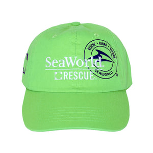 SeaWorld Rescue Green Hat with White Logo