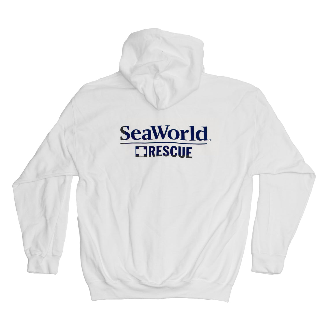 SeaWorld Rescue Ladies Zip Hoodie - White