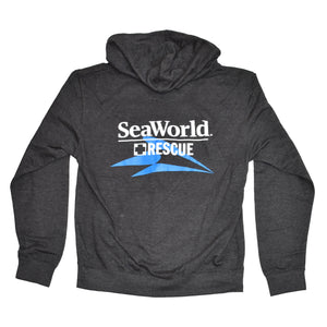 SeaWorld Rescue Ladies Zip Hoodie - Charcoal