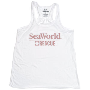 SeaWorld Rescue Ladies Tank - Pink