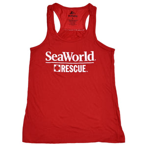 SeaWorld Rescue Ladies Tank - Red