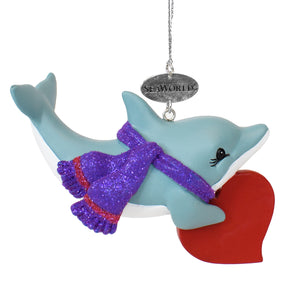 SeaWorld Dolphin Heart Ornament