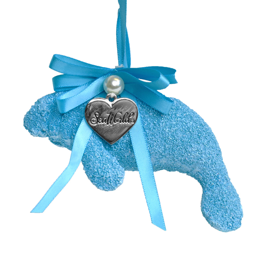 SeaWorld Blue Manatee Ornament