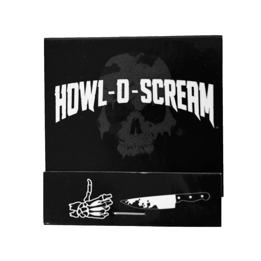 Howl-O-Scream Matchbook 2 pc. Hand & Knife Pin Set
