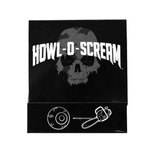 Howl-O-Scream Matchbook 2 pc. Chainsaw & Eye Pin Set