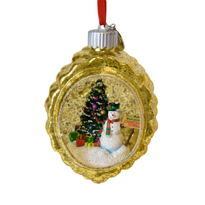 Busch Gardens Christmas Town Lighted Blown Glass Ornament