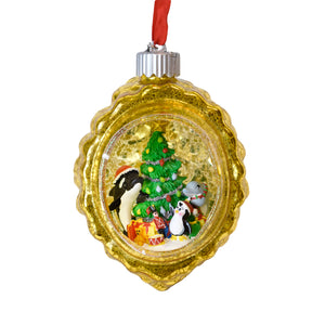 SeaWorld Lighted Blown Glass Ornament