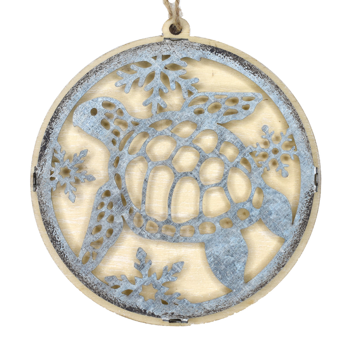 Turtle Wood/Metal Ornament