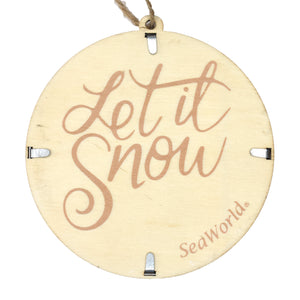Snowflake Wood/Metal Ornament