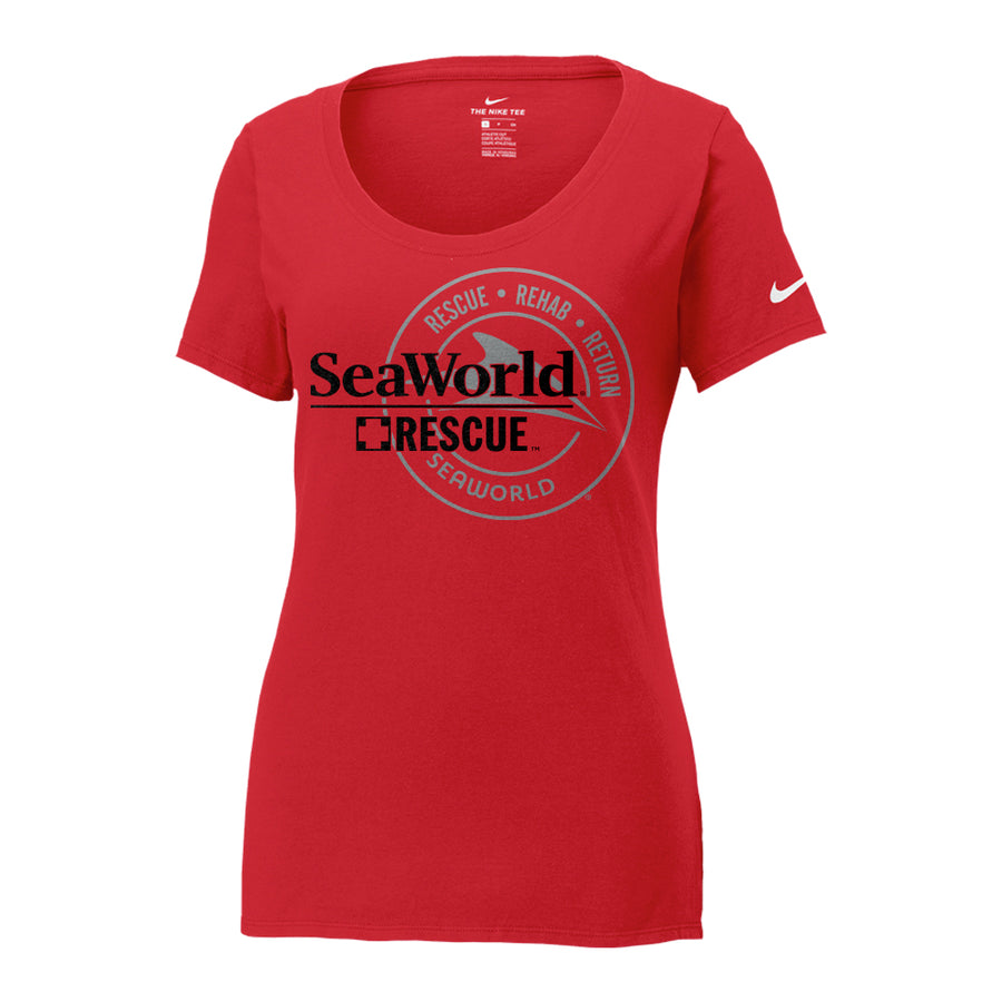 SeaWorld Rescue Nike Ladies Core Cotton Scoop Neck Tee