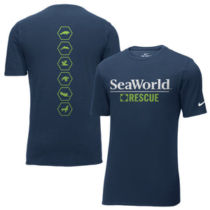SeaWorld Rescue Emblems Nike Core Cotton Tee