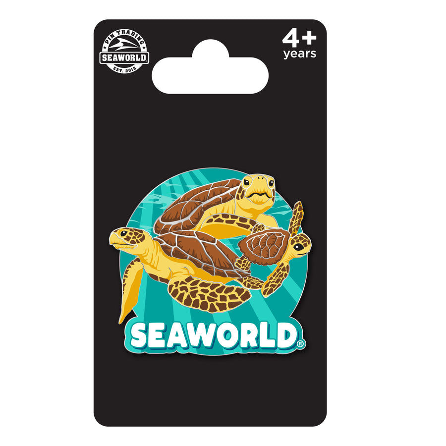 SeaWorld Turtle Family Pin