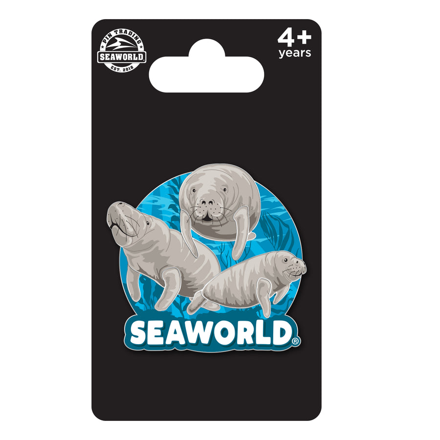 SeaWorld Manatee Family Pin